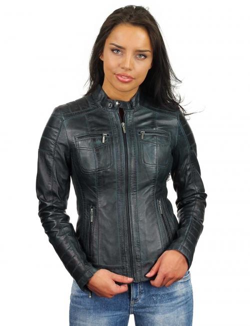 donkerblauwe-leren-jasje-dames-versano-318-model