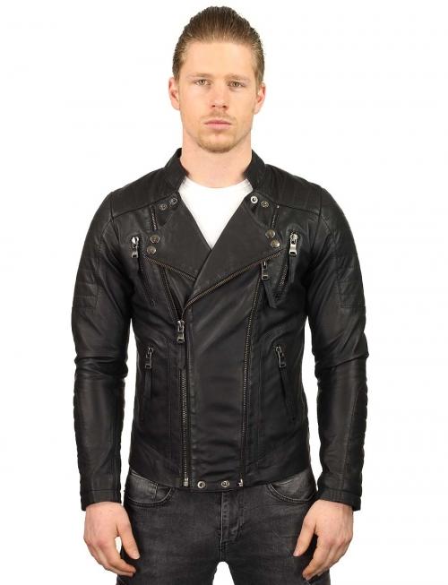 zwarte-leren-heren-bikerjack-versano-tr60