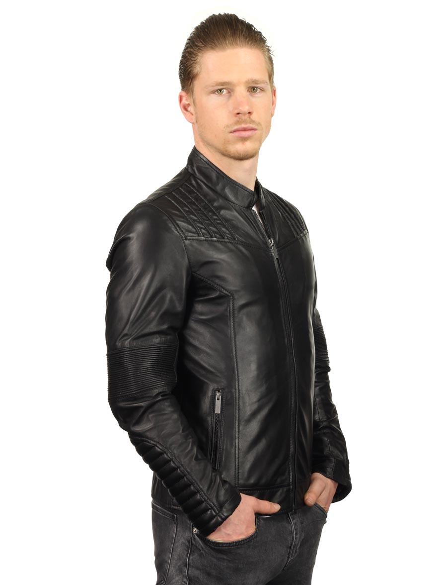 heren imitatieleren jas zwart TRR 47 Versano