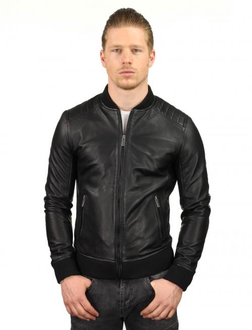 heren bomber jas imitatieleer zwart TRR 48 Versano