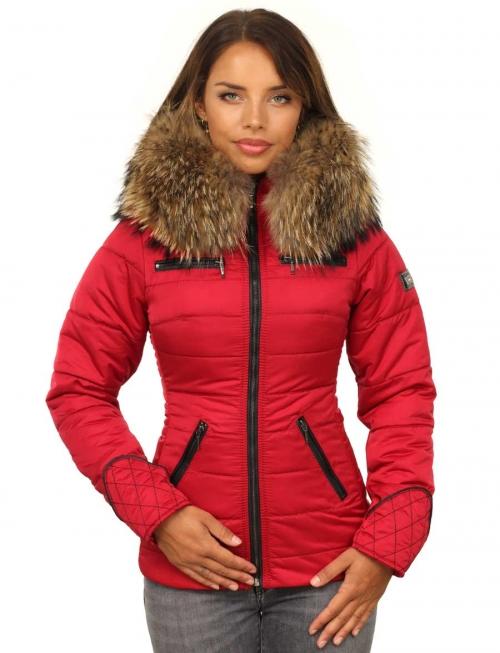 Dames-winterjas-rood-met-rits-versano-model1