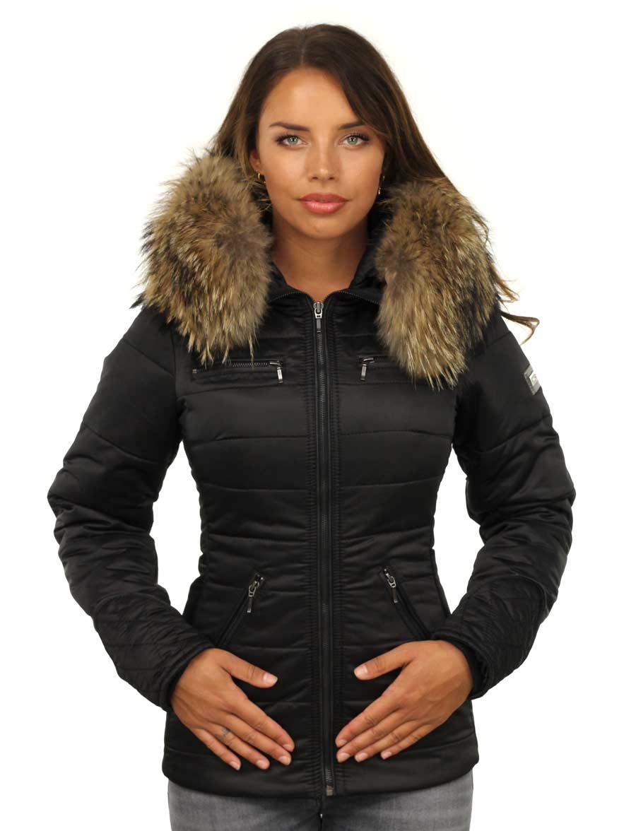 Dames-winterjas-zwart-met-rits-versano-model1