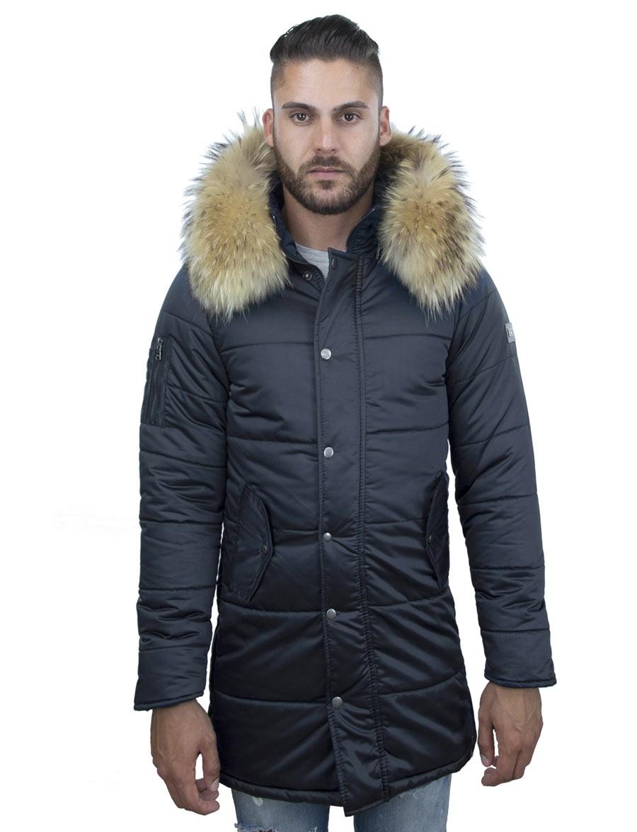 heren-winterjas-halflang-model-blauw-versano-robert