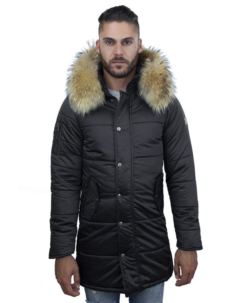 heren-winterjas-halflang-model-zwart-versano-robert