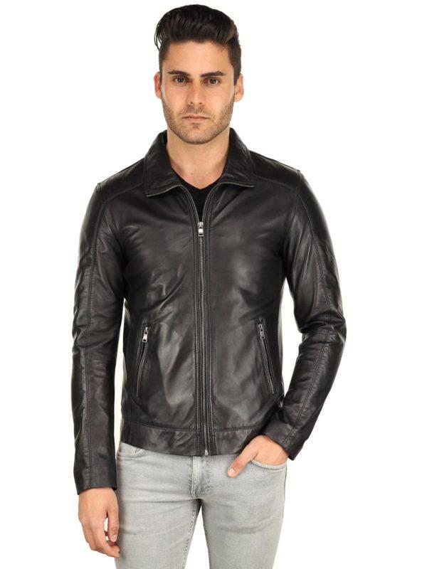 Leren heren jas TR53 zwart Versano