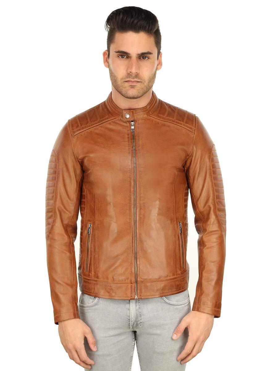 lederen-biker-jack-heren-versano-tr57-cognac-voorkant