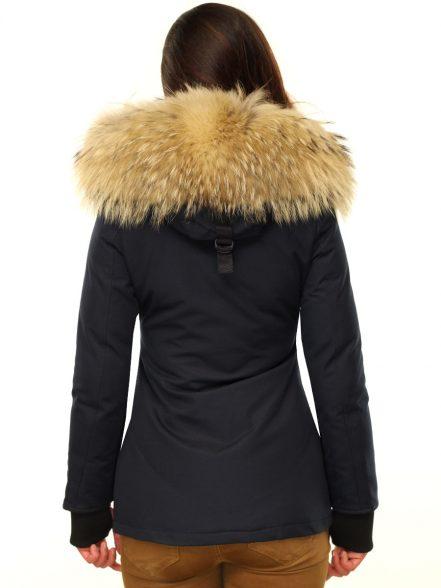 winter jas met bont kraag versano merry zwart