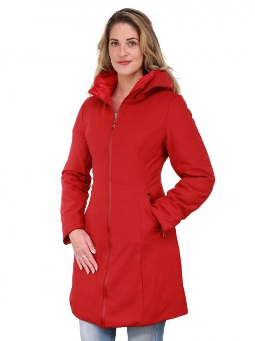 Winterjas dames met capuchon Zita rood Versano